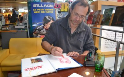 Dédicace de Serge Fino à la librairie Dialogues