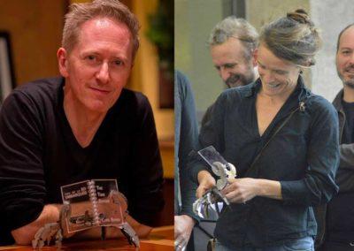 Les lauréats 2016 et 2017, Cyril Bonin et Laetitia Rouxel