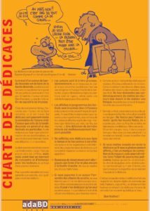 La charte des dédicaces des auteurs de BD . Association des auteurs de bande dessinée.